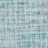 Z6399 Linton Tweed Stoff Meterware Türkis Weiß Pink Luxus