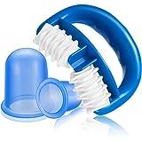 Funxim Anti Cellulite Massagegerät Rolle und Silikon Schröpfen Cup Body Saugnäpfe Health Beauty Care für Cellulite-Behandlung und Reduktion (2 * Anti Cellulite Cup + 1 * Massageroller)