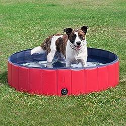 Hundepool - Tragbar Planschbecken Schwimmbecken für Hunde Katzen Haustiere Badewanne 60cm 80cm 100cm 120cm (80 * 20cm)
