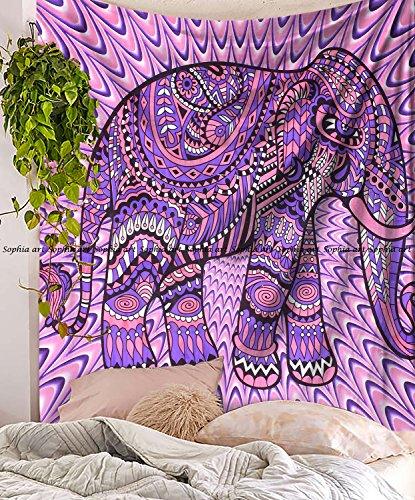 mit Elefanten Mandala Tapisserie, Queen Elefant, Picknick Strand Tabelle, Dekorativer Wandschmuck ()