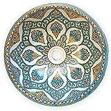 L'Orient Marokkanisches Vintage Waschbecken 40cm | Handmade Handbemalt handgemacht handgetoepfert orientalisches Waschbecken