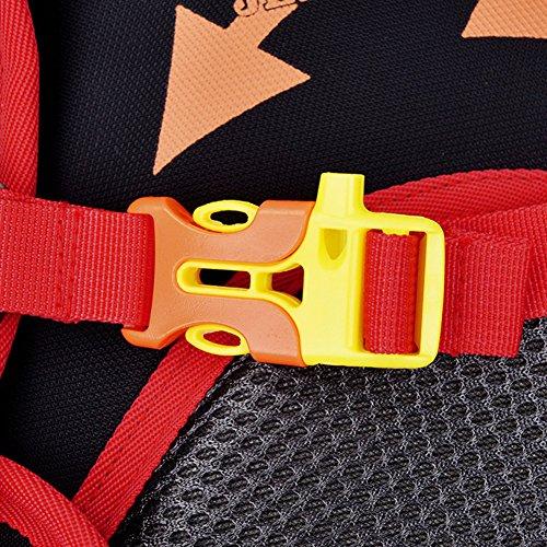 18L Leichter Rucksäcke Fahrradrucksäcke, Schulterrucksack Sport Reittasche Wasserdicht Breathable Basketball Zip Pack mit Regenschutzkappe ROT