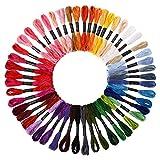 SOLEDI Stickgarn Embroidery Floss multifarben weicher Baumwolle perfekt fürBracelets Stickerei Basteln Crafts Floss Basteln Leisure Arts Kreuzstich 8m 6-fädig Embroidery Threads Nähgarne Häkeln (50 Farben)