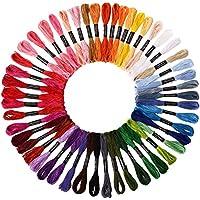 Soledi Hilo de Punto de Cruz 50 Tipos de Colores Bordados Hilo de Bordar de Algodón 100%