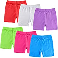 KYDA KIDS 100% Cotton Trendy Plain Shorts for Girls - Regular Fit Girls Shorts with Drawstring, Multicolored, Pack of 3