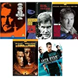Jack Ryan All 5 Movies DVD Complete Collection: The Hune for Red October, Patriot Games, Clear and Present Danger, The Sum of All Fears, Shadow Recruit Extras by Sean Connery