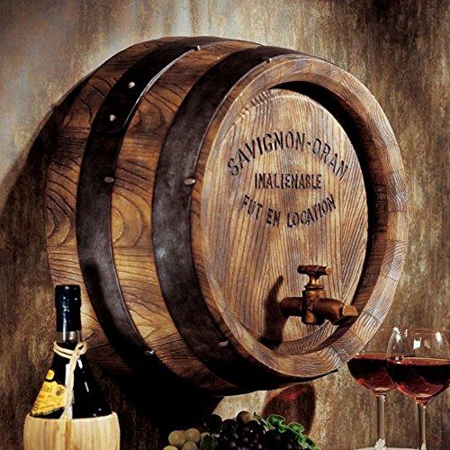 Design Toscano Französisches Weinfass, Wandfigur