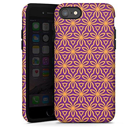 Apple iPhone X Silikon Hülle Case Schutzhülle Blumen Illusion Muster Tough Case glänzend