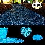 Piedras decorativas brillantes, para decoración, jardín, Acuario, Pecera, Walkway, artificiales (100piezas)