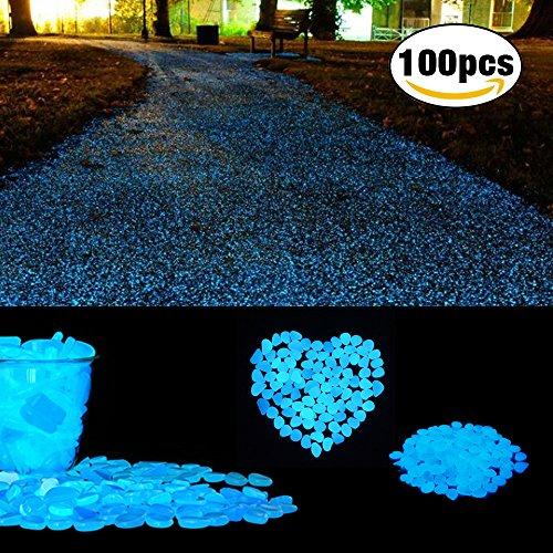 Galleria fotografica Pietre decorative, Cozzine Glow ciottoli per decorazione, giardino, acquario, acquario, Walkway, artificiali (100pz)
