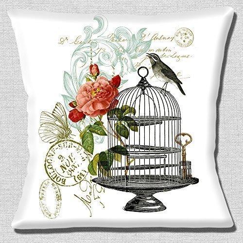 Cojín con diseño floral con jaula