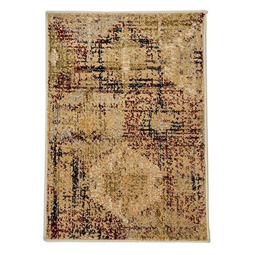 Superior Arabella Collection Teppich, 8 mm Florhöhe mit Jute-Rückseite, Vintage-Medaillon-Muster, modische und erschwingliche gewebte Teppiche Modern 2' x 3' Gold -