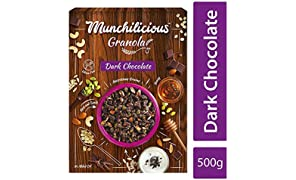 Munchilicious Energy Granola Cereal for Snacks - Nuts & Seeds - Dark Chocolate - 500 gm