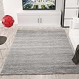 VIMODA Moderner Wohnzimmer Teppich Meliert Kurzflor, OEKO TEX Zertifiziert, Farbechtheit, Pflegeleicht in GRAU, Maße: 120x170 cm