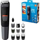 Philips 11-in-1 All-In-One Trimmer, Series 5000 Grooming Kit for Beard, Hair & Body with 11 Attachments, Including Nose…