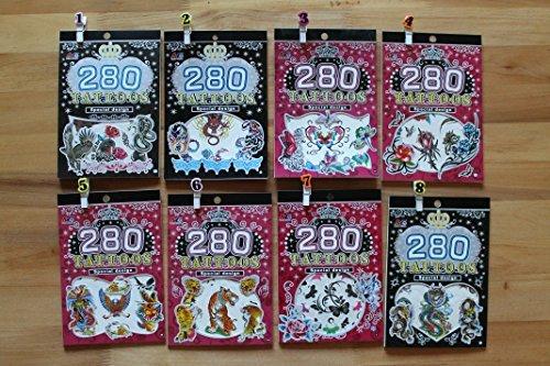 MENG CHENG 280 Tätowierung-aufkleber-buch - Spezielles Design (Tätowierung-design-bücher)