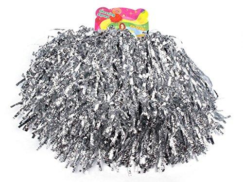 2-stuck-pompons-cheerleading-cheerleader-tanzwedel-puschel-1-paar-viele-farben-silber