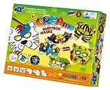 Feuchtmann Spielwaren 6347003 - Klecksi Creame Partybox Masks, 3D Malvorlagen, 6 Motive