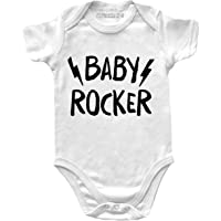 Body Neonato Manica Corta Rock – Baby Rocker – Body Rock - Body Bambino Unisex 100% Cotone Traspirante - Body Regalo…