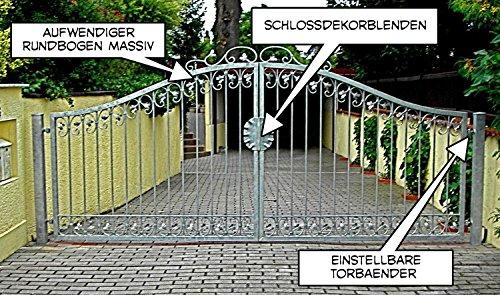 Gartentor Hoftor Tor Metall Eisen Monaco-GT300/40S Feuer Verzinkt 15 Jahre Garantie 3m 300 cm breit