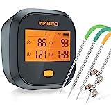 Inkbird IBBQ-4T Wi-Fi Termometro per Carne con 4 Sonde Termometro per Interno ed Esterno, Cucina, Forno, Barbecue, iOS Androi