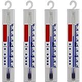 Lantelme Lot de 4 Réfrigérateur Congélateur, glace, armoire, thermomètre de refroidissement. Analogique Température anzige +/