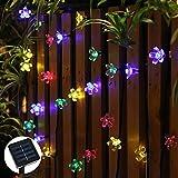 Ohuhu Solares Luces de la Secuencia / Luz de Navidad para el Arbol de Navidad, Dormitorio, Jardín, Bodas, Fiestas - 21 Pies, 50 LED, Multicolor
