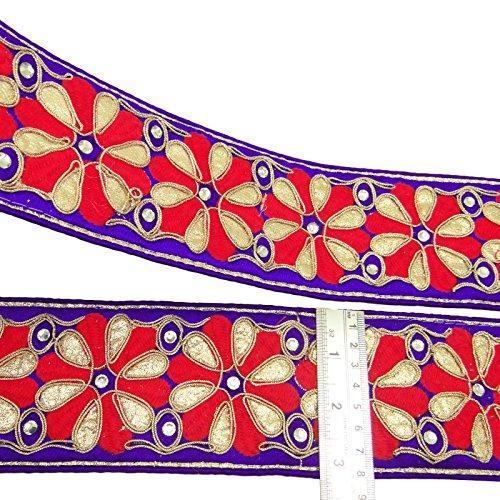 purpura-bordada-fronteriza-de-encaje-83-cm-de-ancho-recortar-india-crafting-coser-por-the-yard