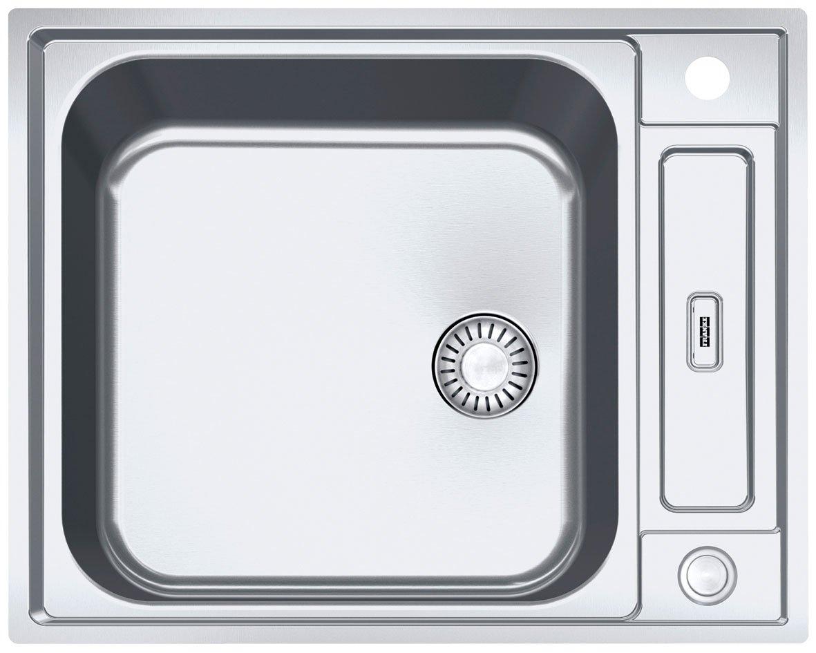 Franke AGX Argos G 610G lavandino in acciaio inox liscio Lavello Lavello da incasso pulsante