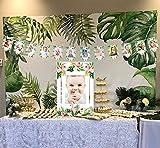 Sayala Tropical Anniversaire Decoration 1er Anniversaire Guirlande de Banderoles Bébé Photo Bannière,Bébé 1-12 Mois Photo Prop Party Bunting Décor Tropicales Luau Hawaii Thème Party