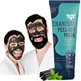 Beardhood Activated Charcoal Peel Off Mask,100g | Deep Cleansing | Blackhead Removal | Dead Skin Removal | Sulphate and Parab