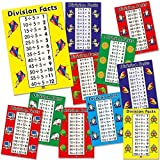 "Primary Teaching Services A4 ""Division Facts Numbers 2-12"" Card Poster (Pack of 11)"