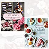 Love, Aimee X and Afternoon Tea at Home 2 Books Bundle Collection - 50 beautiful sweet gifts for friends & family,Deliciously indulgent recipes for sandwiches, savouries, scones, cakes and other fancies
