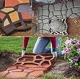 yosoo stampi pavimento,diy stampo per lastre da pavimentazione,marciapiede forma,giardino fai da te percorso modello pavimentazione,diy path maker mold walkmaker (43*43*4cm)