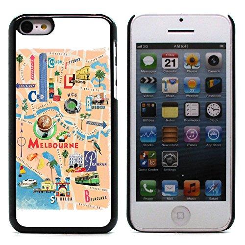 Graphic4You Sidney Australia Aerial View Postkarte Ansichtskarte Design Harte Hülle Case Tasche Schutzhülle für Apple iPhone 5C Design #2