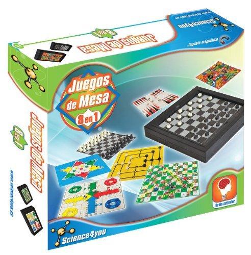 Science4you Juegos de mesa magnético 8 en 1 - juguete científico y educativo