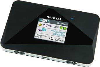 Netgear AC785-100EUS Aircard Mobiler Hotspot Router (4G LTE, mit bis zu 150 Mbit und Cat 4 LTE / 4G, ohne SIM-Lock) schwarz
