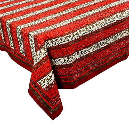 royaltyroute-red-floral-square-tablecloth-in-cotton-fabric-indian-home-decor-150-x-150-cm