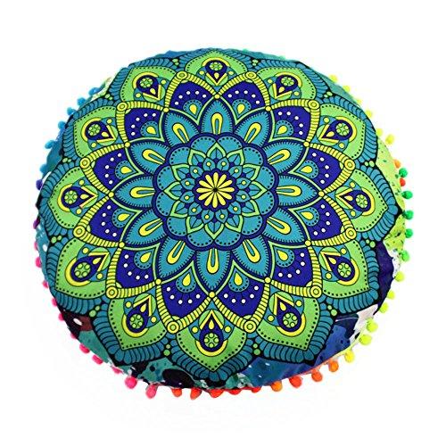 Dtuta Pillow Cover-Indian Mandala Floor Cuscini Round Bohemian Cuscino Cuscini Cuscini della Copertura Cuscini Cerniera Invisibile sul Soggiorno