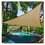 Prom-near Premium Sonnensegel Dreieck Wasserfest Sonnensegel Garten Terrasse Pool Schatten Segel (A: Sand Yellow 3*3 Meters)