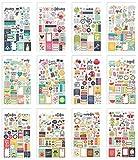 Simples étages Seasons Mini Autocollant Tablette, Papier, Multicolore, 17.1x 10.2x 0.4cm