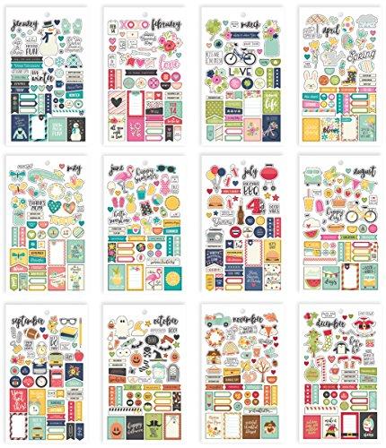 Unbekannt Simple Stories Jahreszeiten Mini Aufkleber Tablet, Papier, Mehrfarbig, 17,1x 10,2x 0,4cm