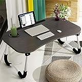 Table de lit pour ordinateur portable Astory Support de lecture portable Plateau de petit-déjeuner avec jambes pliantes et fe