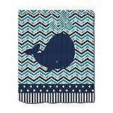 Evan332Eddie Duschvorhang Ocean Aquatic Wal Weiß Blau Wellen Streifen Türkis Marine, Badezimmer Wasserdicht 60x 72.