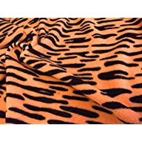 Double Sided Supersoft Cuddlesoft Fleece Fabric Material - TIGGER ORANGE