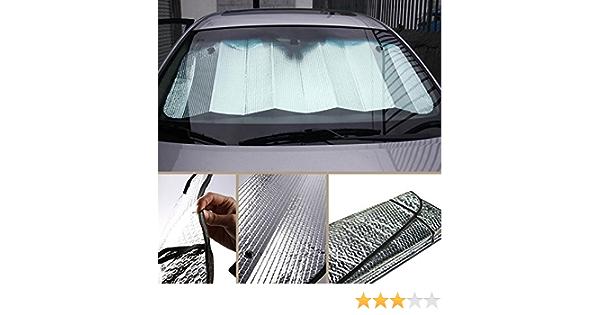 f/ür Windschutzscheibe leicht Doppelseitiges Auto Windschutzscheibe passend f/ür gro/ße oder kleine Autos silber hervorragende UV-W/ärme und Sonnenreflektor faltbar Free Size