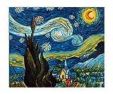 World Art, TWVG057EAT-02, Notte stellata, Dipinti olio su tela Falsi d'autore, 50 x 60 x 2 Cm