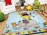 Lifestyle Kinderteppich Afrika Stadtmusikanten Blau !!! Sofort Lieferbar !!!