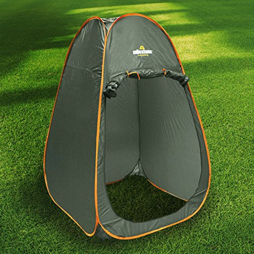 61n3dyLQ6BL. SS500  - Milestone Camping 14140 Toilet Tent Pop Up Privacy Tent for Outdoor Changing Dressing Fishing Bathing Storage Room Tents, Portable with Carrying Bag, Dark Grey