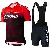 GHDUKEY Fietsshirt voor heren, zomer, fietskleding, sneldrogend, korte mouwen, fiets voor buitensporten